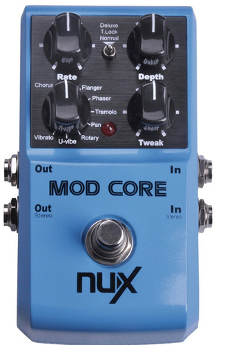 nux mod core - chorus-phaser-flanger (infusiontienda)