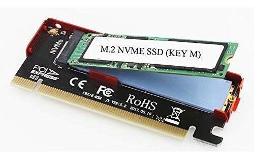 nvme - adaptador m.2 a pcie, tarjeta pci express x16 a m2 (l