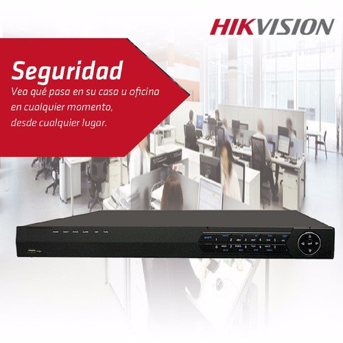 nvr ip hikvision 16 canales ds7616nie2/8p, 8 poe