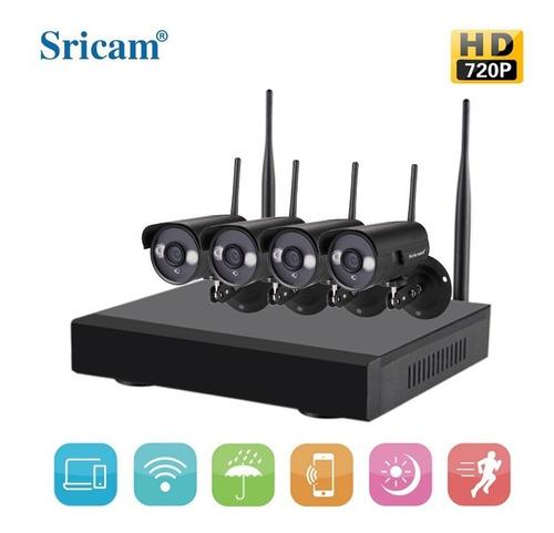 nvr sricam + 4 cámaras ip wifi hd