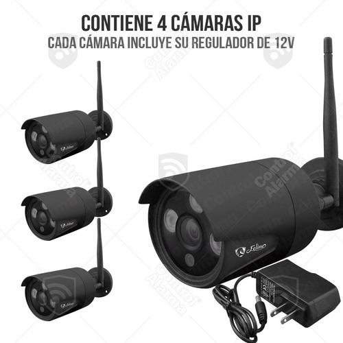 nvr wifi 4 camaras ip vigilancia hd ir seguridad 1 mp 1tb