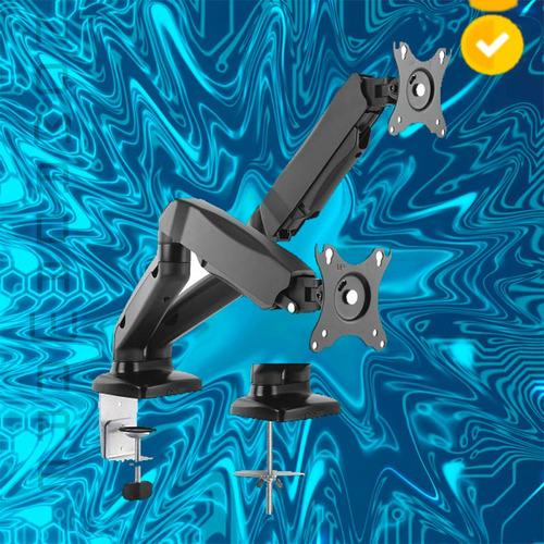 nw soporte brazo ajustable 2 pantallas klip xtreme monitor
