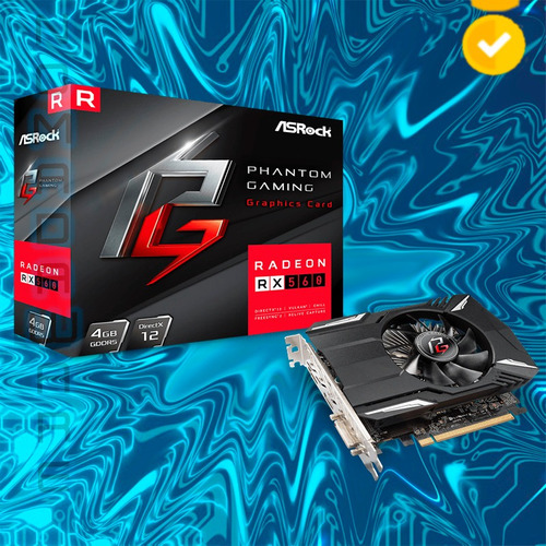 nw tarjeta de video asrock phantom gaming radeon rx560 4gb