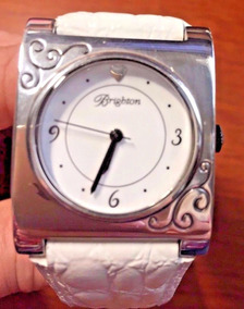 Brighton Plateado Nwt Reloj Cuero Blanco Traverse Msrp De byf6gY7