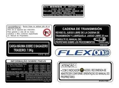 nxr 160 brós - adesivos de advertência - frete grátis