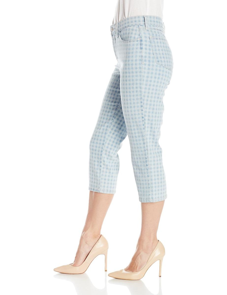 2bd30713ed9 Denim Nydj Mezclilla gingham Para Ariel Jeans Mujer Crop vq40rv