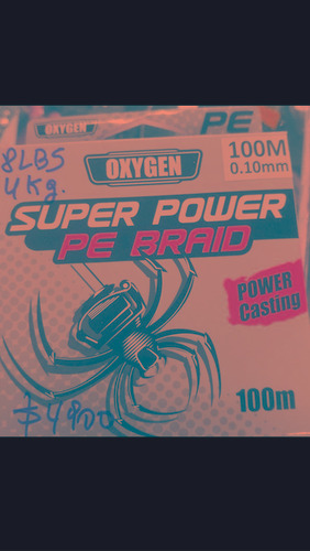 nylon de pesca multifilamento oxygen super power 100m