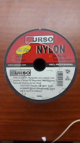 nylon p/pesca  alta resistencia 40 kg 1.00 mm 100 mts
