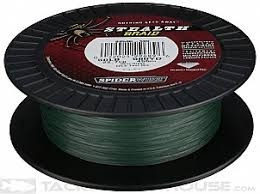 nylon stealth 65lbs 500yds moss grn spiderwire