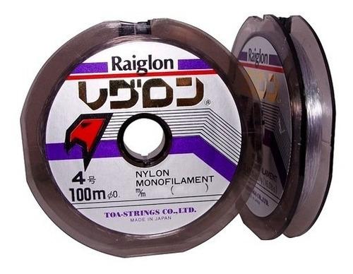nylon tanza de pesca raiglon 0,50mm carretel x 100mts