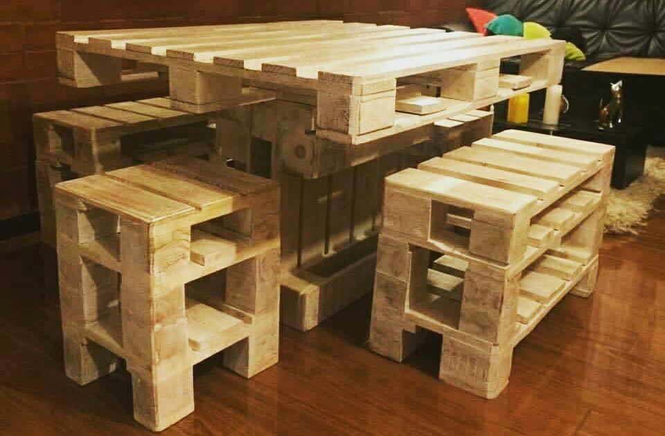 N yru furniture muebles reciclados pallets palets u s 4 for Muebles palets reciclados