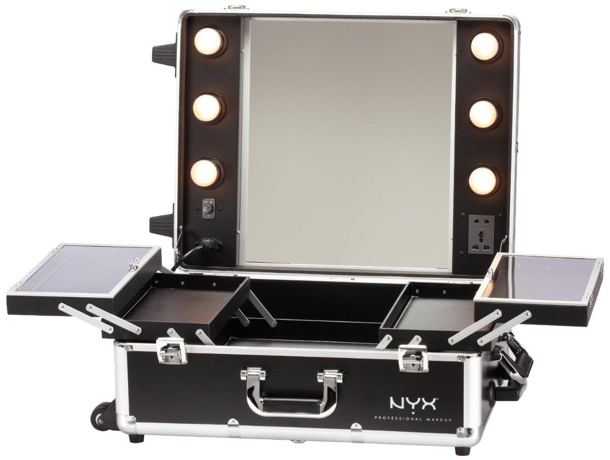 Nyx Cosmetiquera Estacion De Maquillaje Maletin Luz Vv4