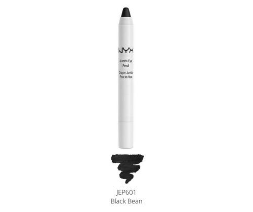 nyx jumbo eye pencil sombra cremosa lápis black bean