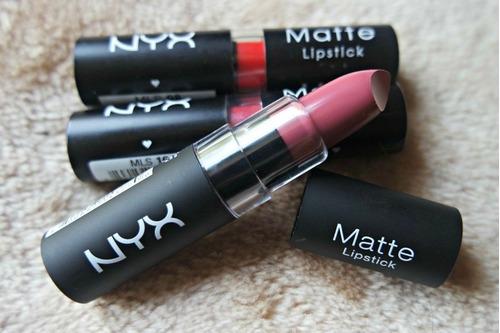 nyx labial matte lipstick larga duracion maquillaje