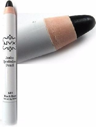 nyx lápis sombra jumbo de olho - cor 601 black bean (preta)
