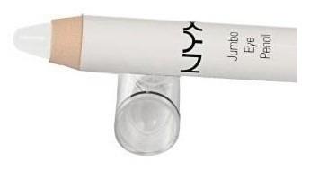 nyx lápis sombra jumbo de olho - cor 604 milk (branca)