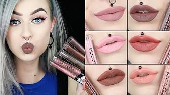 nyx lip lingerie liquid matte 12nuevos tonos, mira el video