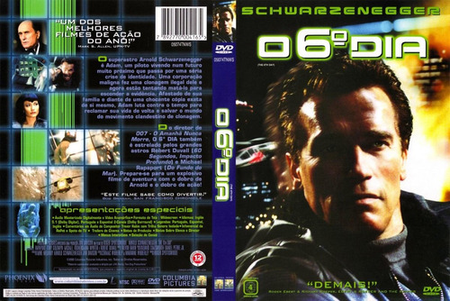 o 6º dia dvd original schwarzenegger