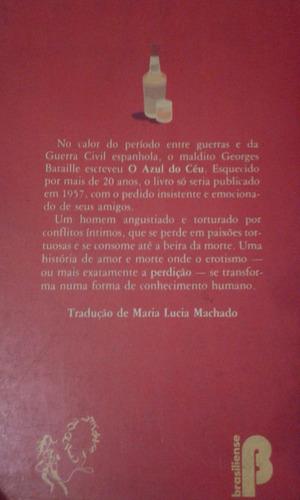 o azule do ceu. georges bataille. en portugues.