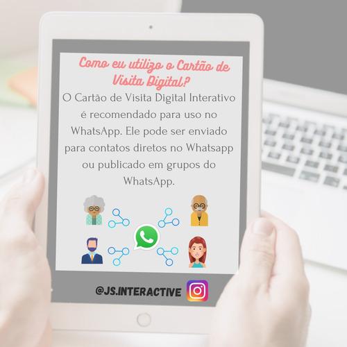 o cartão de visita digital interativo