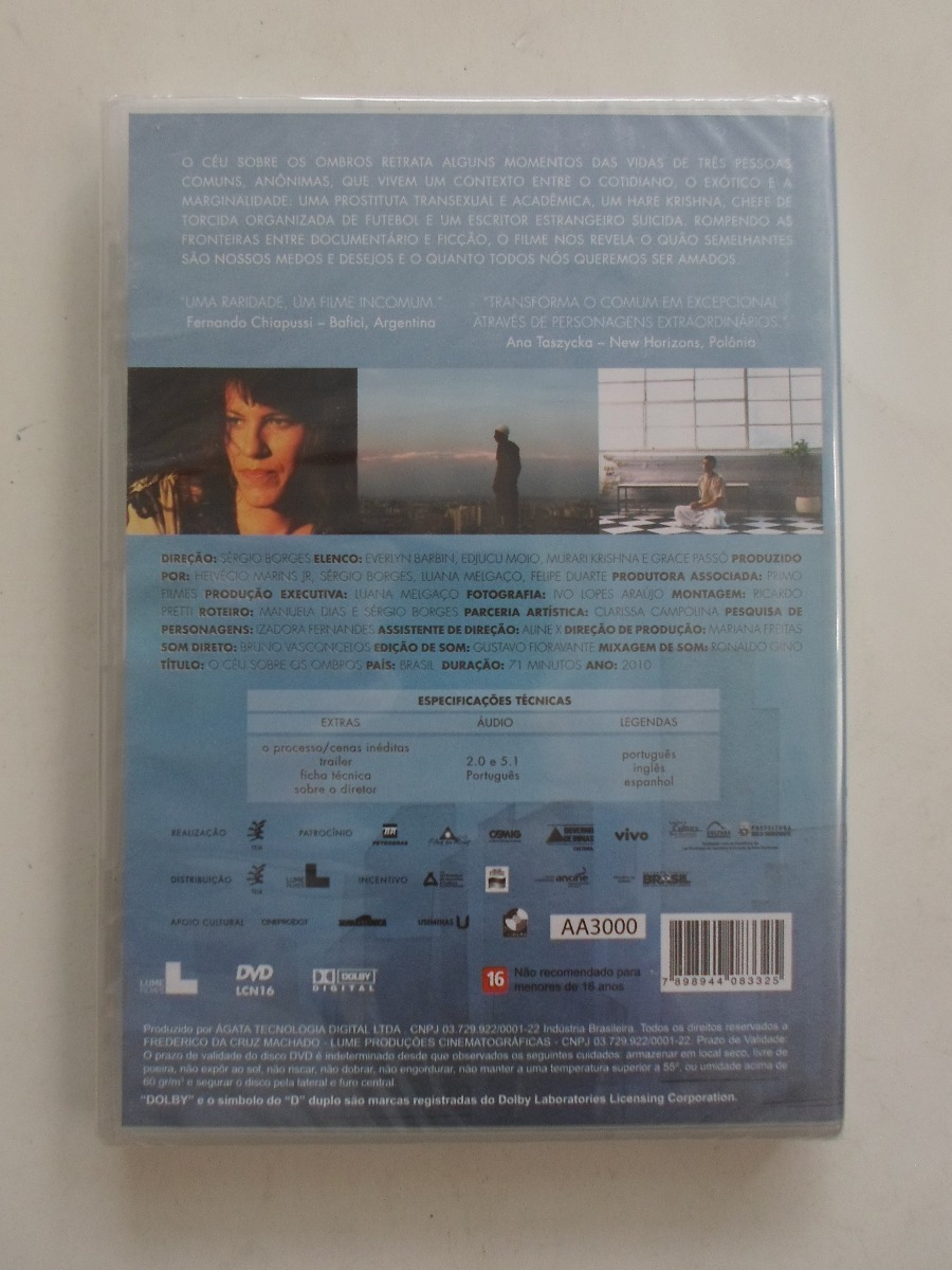 O Céu Sobre Os Ombros - Dvd Nacional - Lacrado!!!!