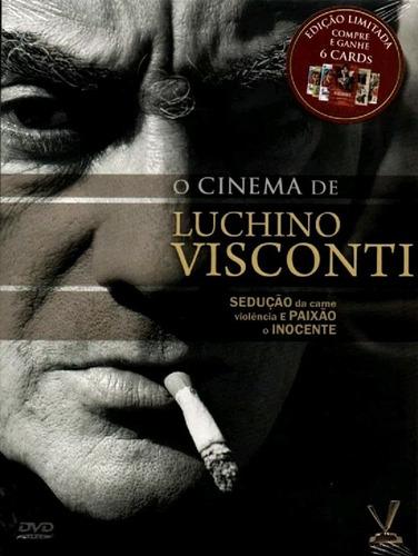 o cinema de luchino visconti - box com 3 dvds - novo - cards