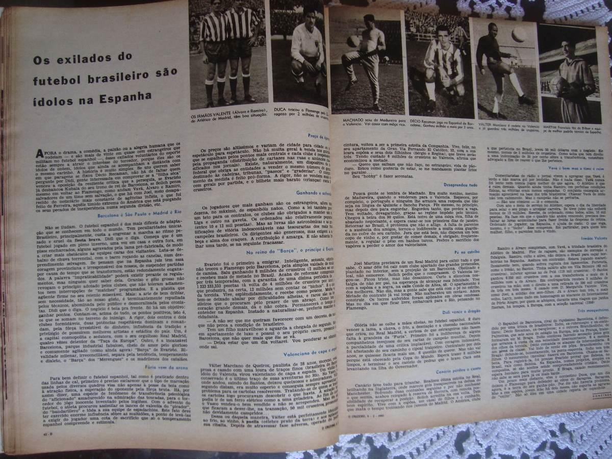 355bb0972ffe5 o cruzeiro fev 1960 ídolos futebol brasileiro na espanha. Carregando zoom.