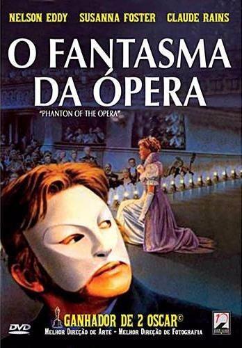 o fantasma da ópera - dvd - nelson eddy - claude rains