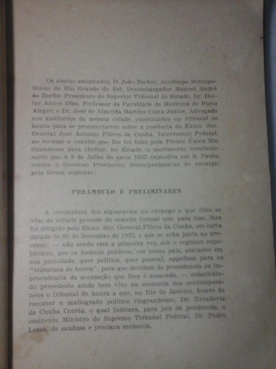 O General Flores Da Cunha E A Revolução Paulista 1933