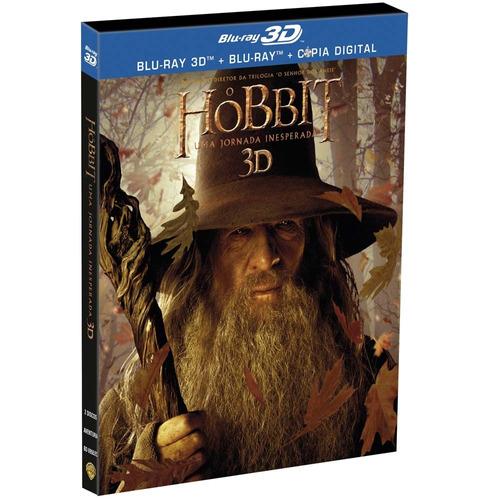 o hobbit - uma jornada inesperada [blu-ray 3d+2d] 4 discos