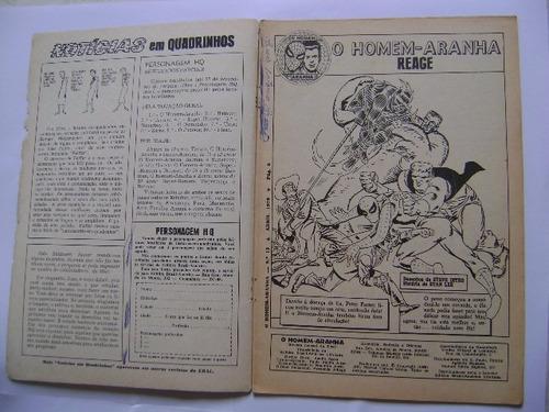 o homem aranha n°13 (1ªsérie) abr 70 ebal leia descrições