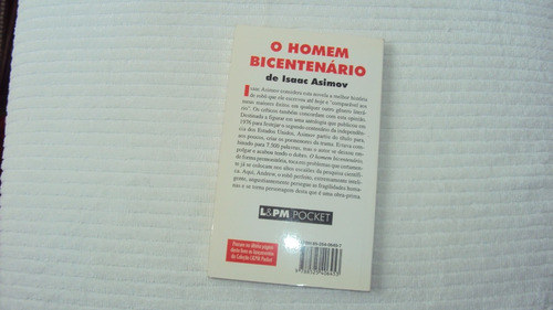 o homem bicentenário -edição de bolso - editora l&pm