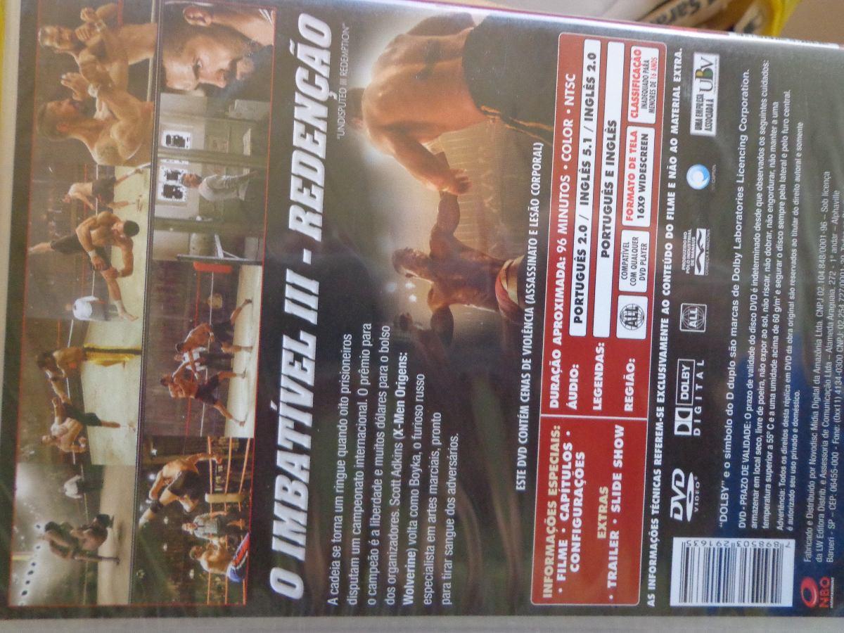 Imbatível 3 Good o imbatível 3 redenção + até 3 dvds de brinde - lote - r$ 69,99 em
