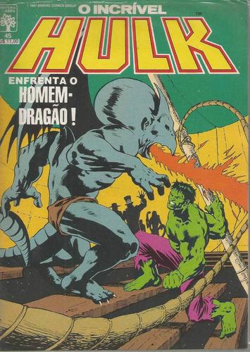 o incrivel hulk 45 - abril - bonellihq cx11 b19