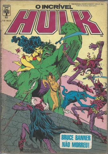 o incrivel hulk 62 - abril - bonellihq cx40 e19