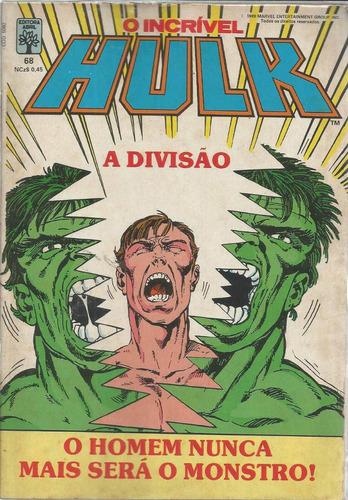 o incrivel hulk 68 - abril - bonellihq cx21 c19