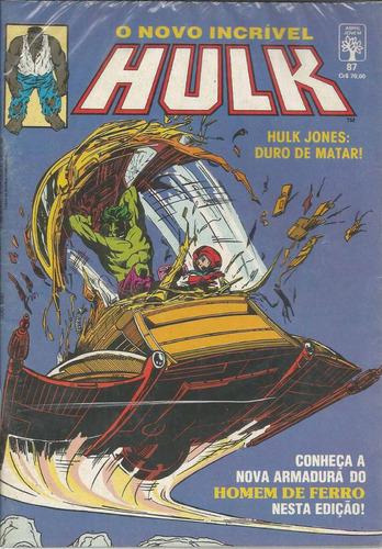 o incrivel hulk 87 - abril - bonellihq cx55 f19
