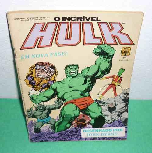 o incrivel hulk nº 67 ed. abril  01/1989 (usado).