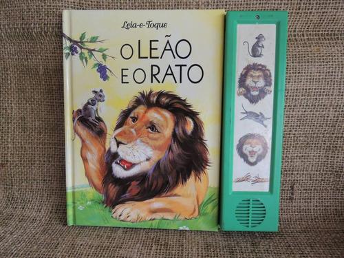 o leão e o rato  coleção leia e toque ( efeitos sonoros )
