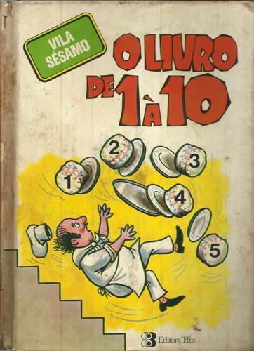 o livro de 1 `10 vila sésamo robert pierce antigo raro