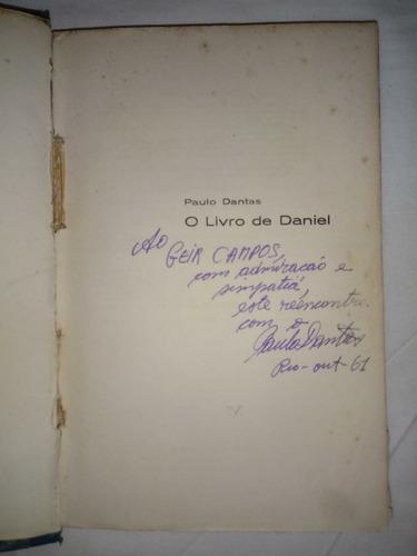 o livro de daniel   paulo dantas  autografado capa dura