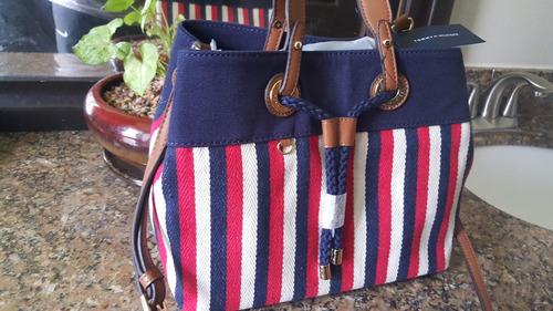 «o. luxuss» bolsa satchel tommy hilfiger original nueva 2016