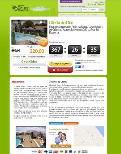 o melhor site de compra coletiva com 6 cores de layout