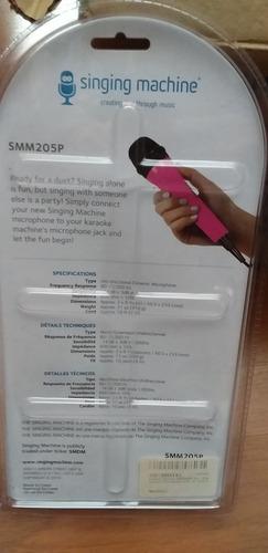 o microfone unidirecional para cantar smm205p - 047237002155