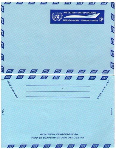 o n u, aerograma nuevo, para correspondencia interna