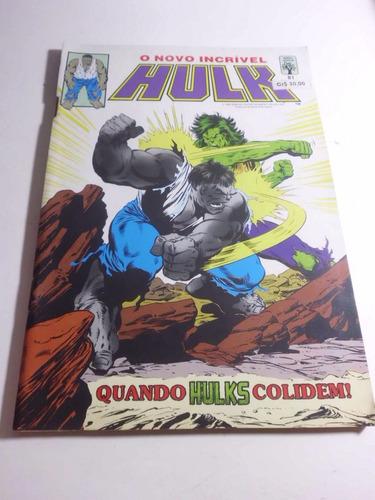 o novo incrível hulk nº 81 - ed. abril - 1990