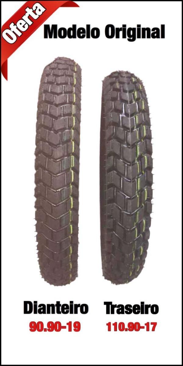 O Par 90.90-19 + 110.90-17 Modelo Original P moto Bros - R  199,90 ... 18dc4933c4