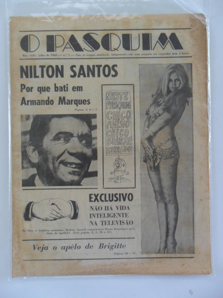 O Pasquim Nº 5 Entrevista Nilton Santos Jul 1969 R$ 150 00 em