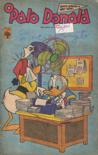 o pato donald n 1344 de 22-08-1977 imagens da revista