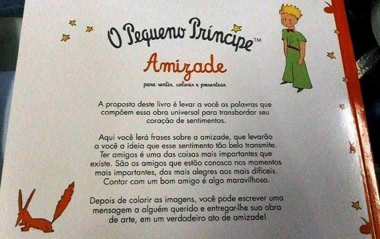 O Pequeno Príncipe Amizade Para Sentir Colorir E Presentear R 12
